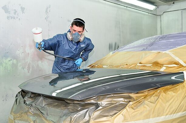 places that paint cars maple